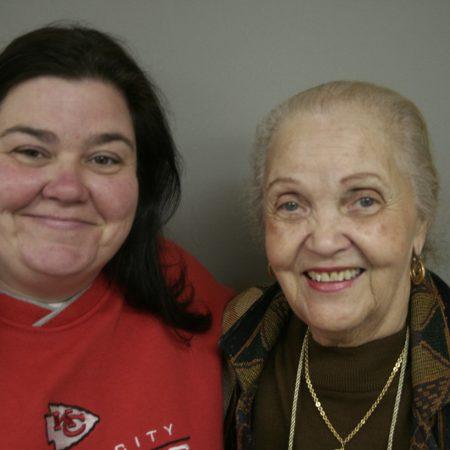 Gwendolyn Henderson and Shirley Baxter