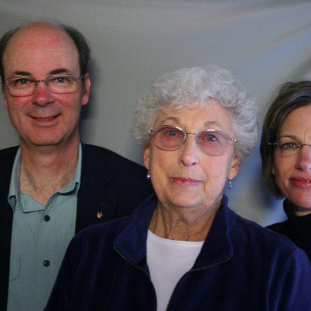 Virginia McConnaha Kranz, Lisa Kranz Meuser, and Dave Kranz