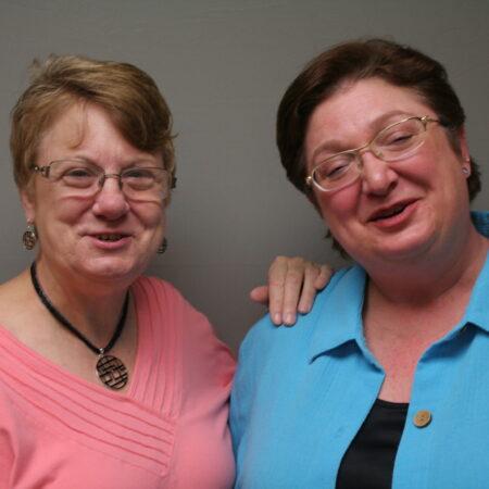 Sue Manlove and Lorraine Scurti