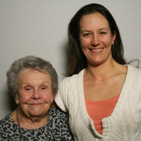 Geraldine Johnson and Courtney Johnson Rowe