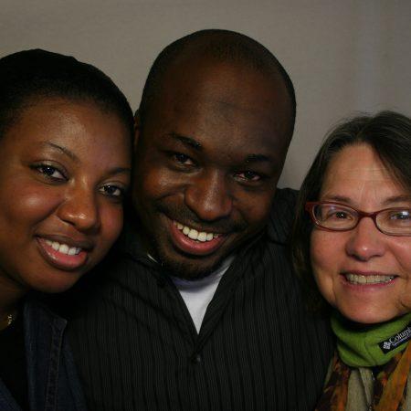 Djibril Cisse, Oulimata Sylla, and Patricia Carlin