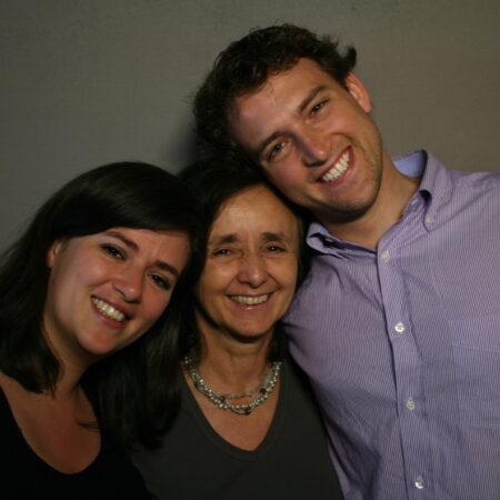 Rosa Montes Miró, Estanislao  Fidelholtz, and Natalia Fidelholtz