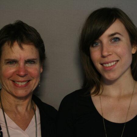 Judith Blake and Caroline Denham