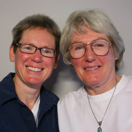 Phyllis Hoovler and Ellen Riggle
