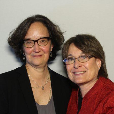Vicki Saporta and Louise Melling
