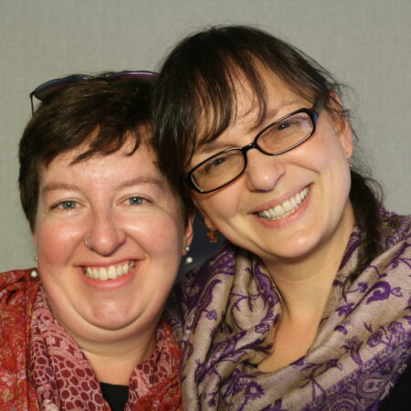Kimberley Williams and Juliet Hutchings
