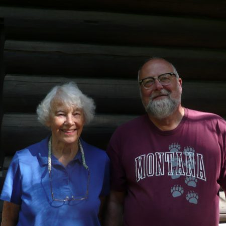 Bobbie Ulrich talks with her son Bob about coming to Priest Lake with her family friends, the Fallquists, during WWII.