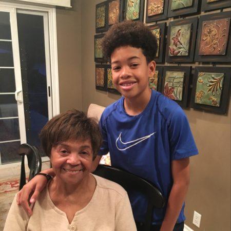 Wesley Waddles and his Granny Joan Banks