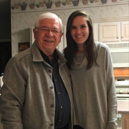 Eden Roberson and her grandpa Vilas Glaeske