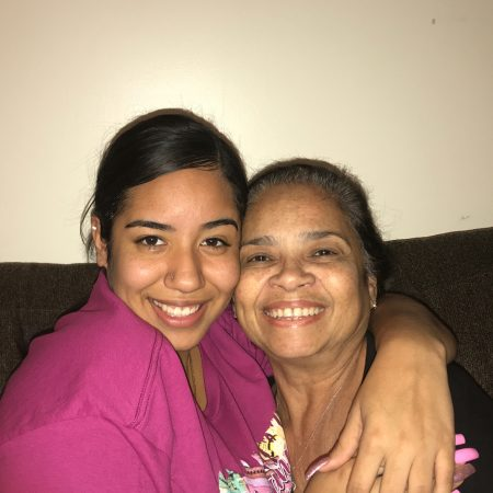 Jailene and Eneida Sanchez, her grandma talk about her childhood days growing up in Puerto Rico.