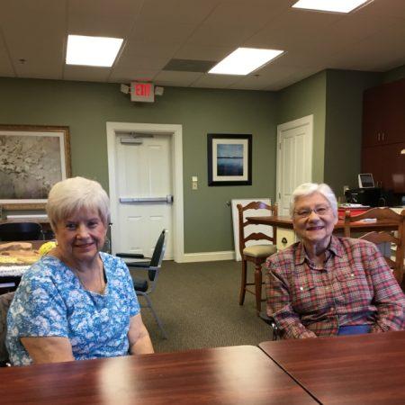 Sunrise Villa Tuckahoe interviewing residents Donna O. And Ellen N.