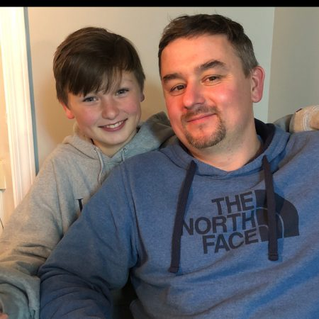 Elijah Belk(13) and Jason Belk(43)