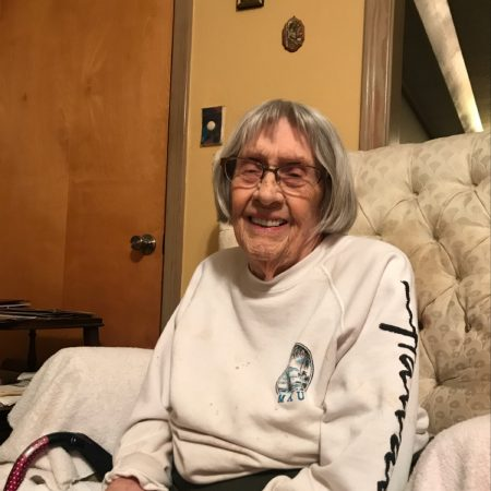 Mary Bee Querner Poole interview about brother Harold being born June 11, 1918 on bank of Trinity River near TCU