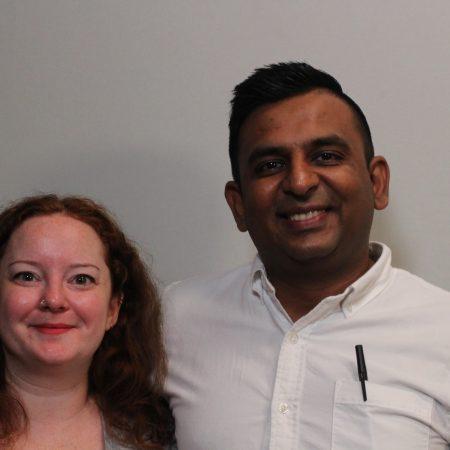 Neil Patel and Rachel  Blackburn