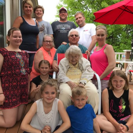 Family Photo, Monday, May 27, 2019 and Interview of Marian Lambert, Monday, August 19,2019, Omaha, NE.