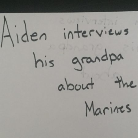 Aiden interviews his Granpa about the marines