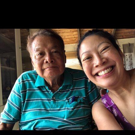 Sara Lin (7-5-4-3) interviews her father (7-5-4) Paul Lin