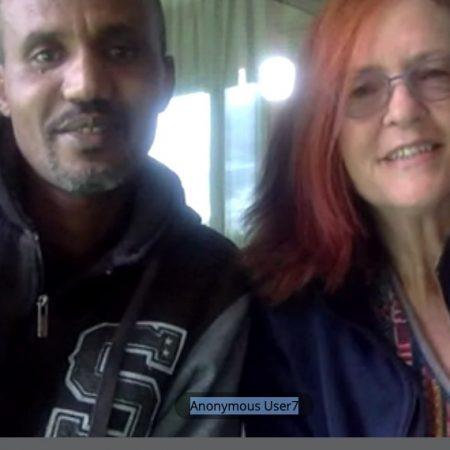 Melissa MacKenzie and Esayas Asfeha