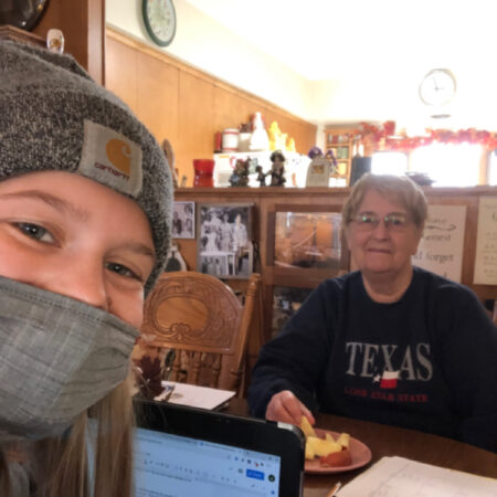 """grandma and abbys interview """"growing up on the farm"""""""