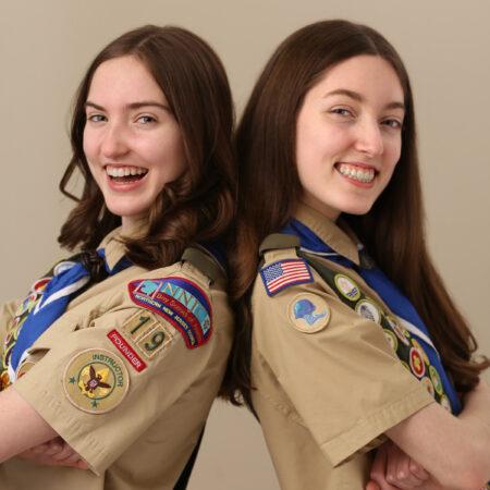 Bridget Lomax and Morgan Lomax: 14 Year Old Female NJ Eagle Scouts