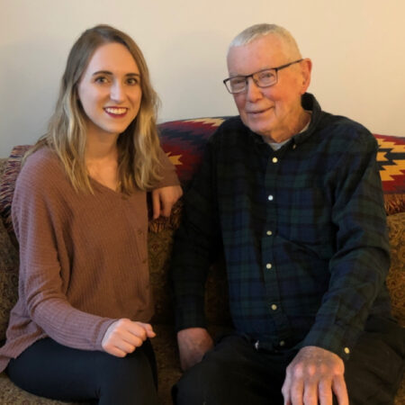 Donald Prahlow shares 91 years of wisdom with his granddaughter Patty Heiman
