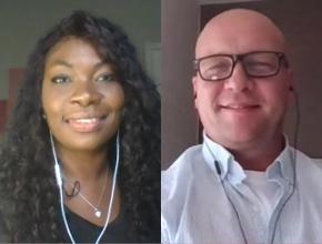 Shanika Ampah and Nathan Earl