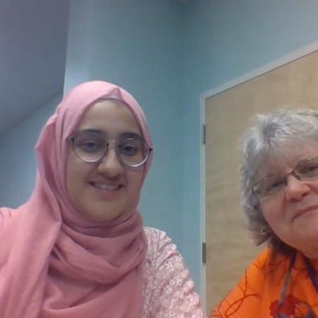 Donna Schminkey and Mubara Mayar