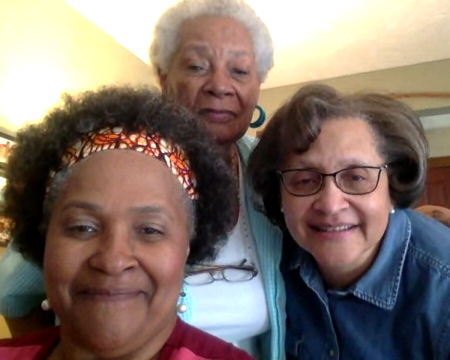 Adele Jones, Connie Dunlop, and DeEtte Dunlop