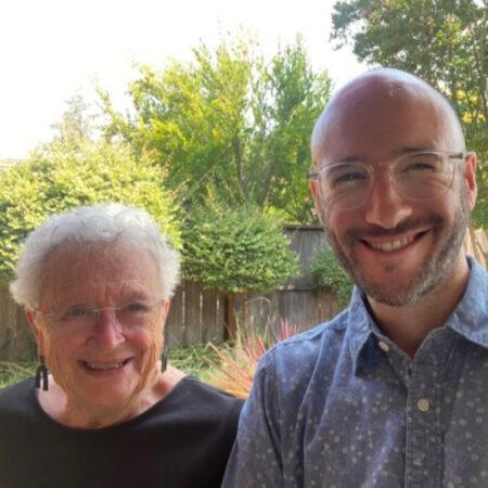 Sally Kaufmann Cowan and her grandson Nathan McKenzie