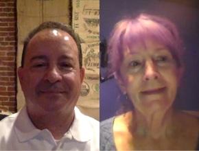 Miguel Rodriguez and Sheila Mastropietro
