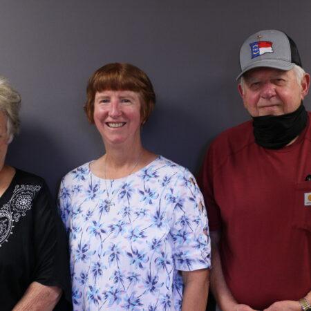 Mary Booker, Barbara Miller, and Doug Miller