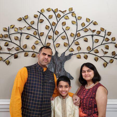 Girish, Vaishali, & Ankush with Scott Acord