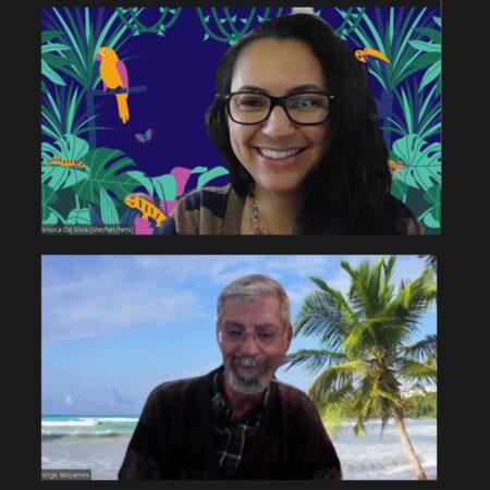 Fellow Brazilian and naturalized US citizen Jessica Da Silva interviews George Woyames