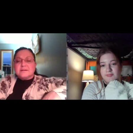 Hannah Amos and Margaret Amos talk about how communication has changed in their lives